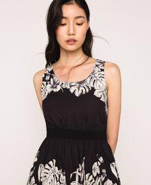 Robe en popeline florale Imprimé Fleur Graphique Noir Femme 201TT2312-04