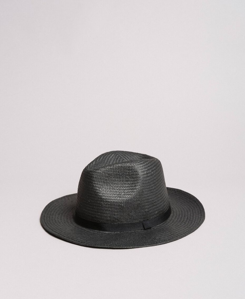 Hat with grosgrain ribbon Black Woman 191TA4392-02
