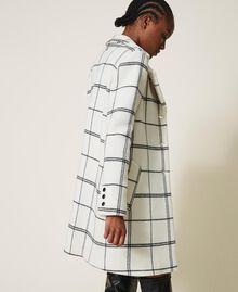 Пальто из жаккардового сукна Большая Клетка Двухцветный Черный Белый / Черный женщина 202TP224A-04
