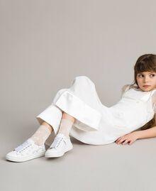 Lurexgarn-Socken Mattweiß Kind 191GJ4QR1-0S