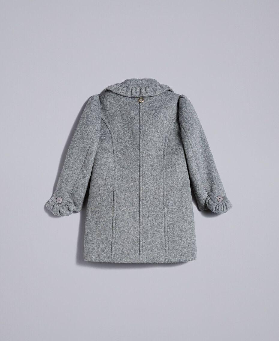 Manteau en drap avec ruches Gris moyen chiné Enfant FA82CG-0S