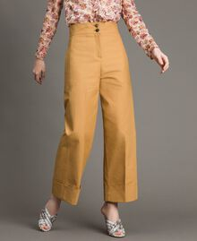 """Technical cotton trousers """"Mid Tan"""" Brown Woman 191TP2181-02"""