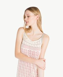 Long openwork dress Pale Ecru Woman PS836D-04