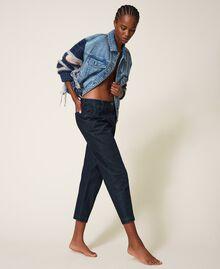 Tapered fit jeans Dark Denim Woman 202MP2071-03