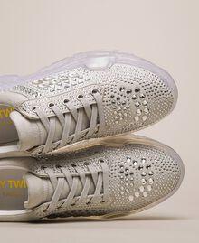 Замшевые беговые кроссовки со стразами Белый женщина 201MCT042-02