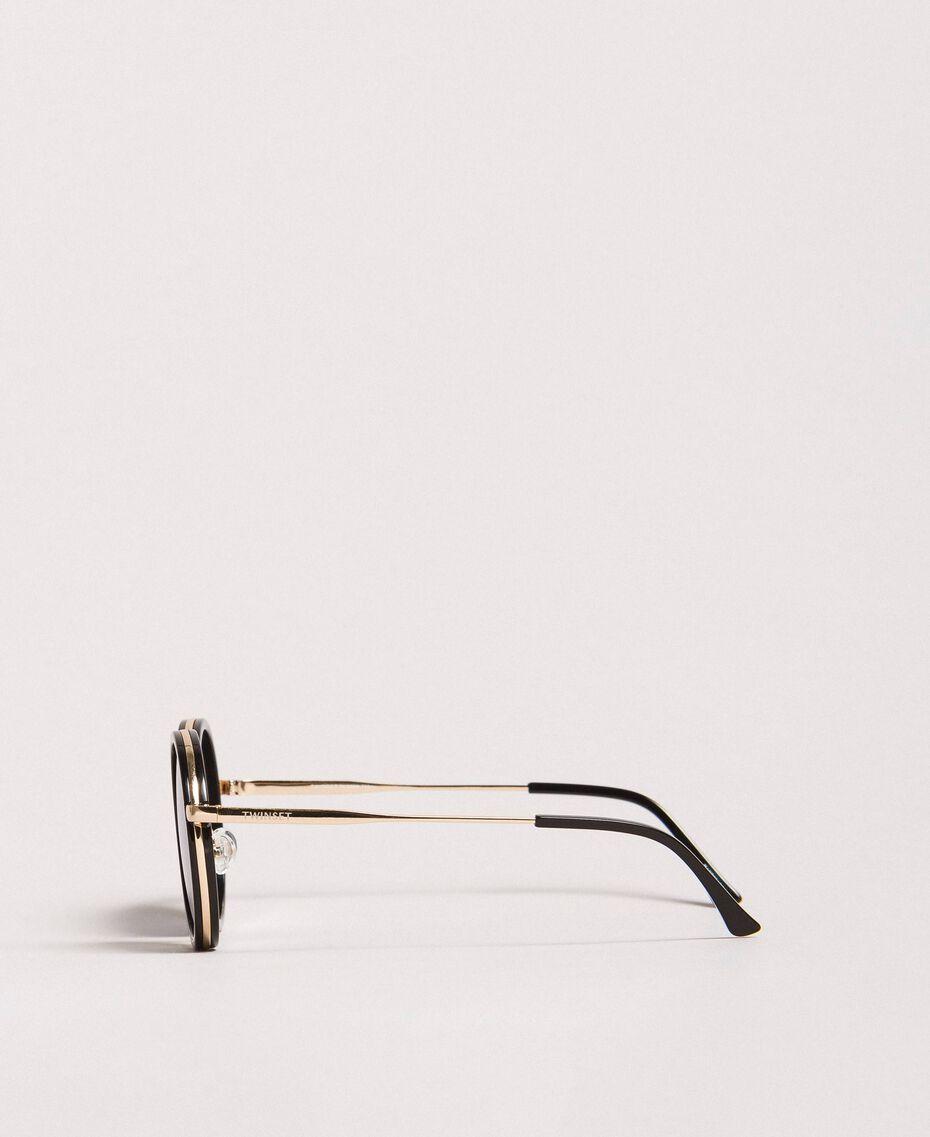 Round sunglasses Black Woman 999TZ4011-02