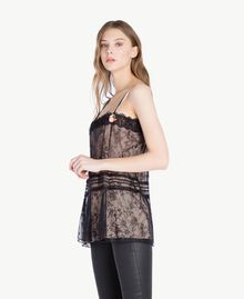 Top pizzo Nero Donna PS821H-02