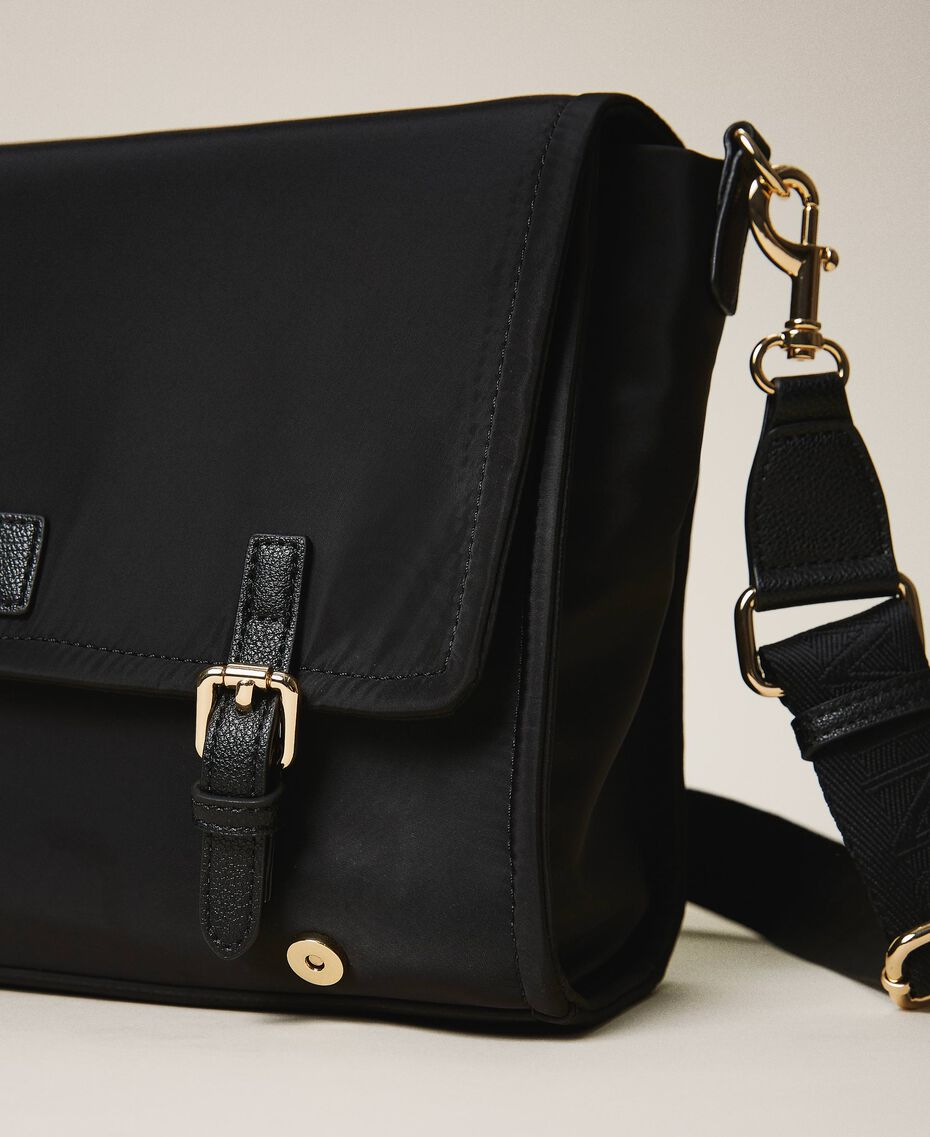 Satin Twinset Bag shoulder bag Black Woman 202TB7203-03
