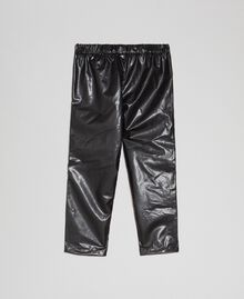 Legging en similicuir avec strass Noir Enfant 192GB2010-0S