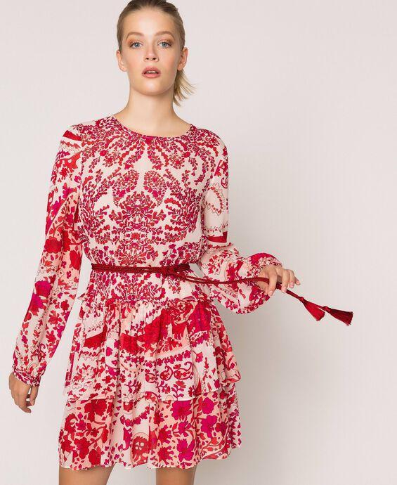 Paisley print georgette dress