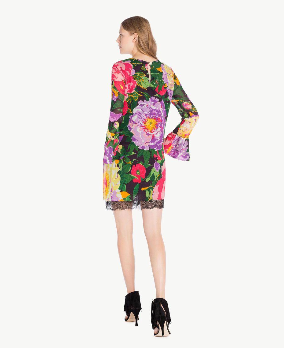"Kleid mit Print ""Summer Garden""-Print Frau TS8242-03"