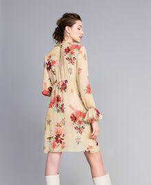 """Mini floral print georgette dress """"Tea Garden"""" Pink Print Woman PA8271-03"""