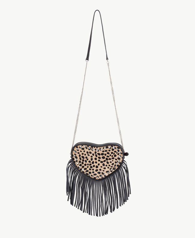 TWINSET Animal print shoulder bag Ponyskin Animal Print Woman AS8PLE-01