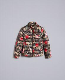 Printed light padded jacket Camouflage Flower Rose Print Woman JA82AN-0S