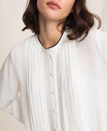 Crêpe de Chine shirt Ivory Woman 201TP2392-05
