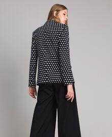 Veste blazer à pois Bicolore Noir / Blanc Femme 191MP2360-03