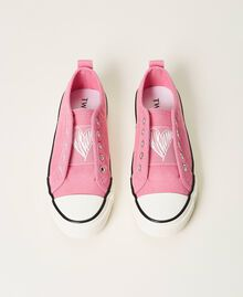 "Sneakers aus Canvas mit Logo ""Rose Bloom""-Rosa Kind 211GCJ070-06"