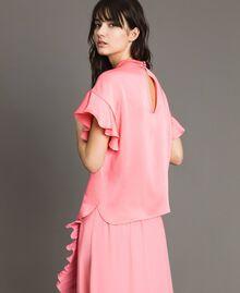 """Bluse mit Tropfenverschluss """"Wild Rose"""" Pink Frau 191TP2694-03"""