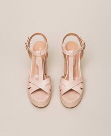 Leather T-bar sandals Bud Pink Woman 201TCP070-05