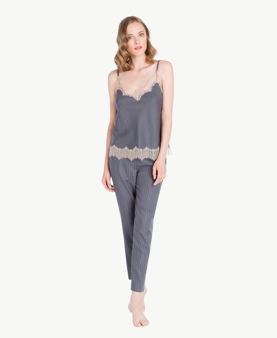 Pantalon rayures Gris Rayé Femelle LA7GJJ-02