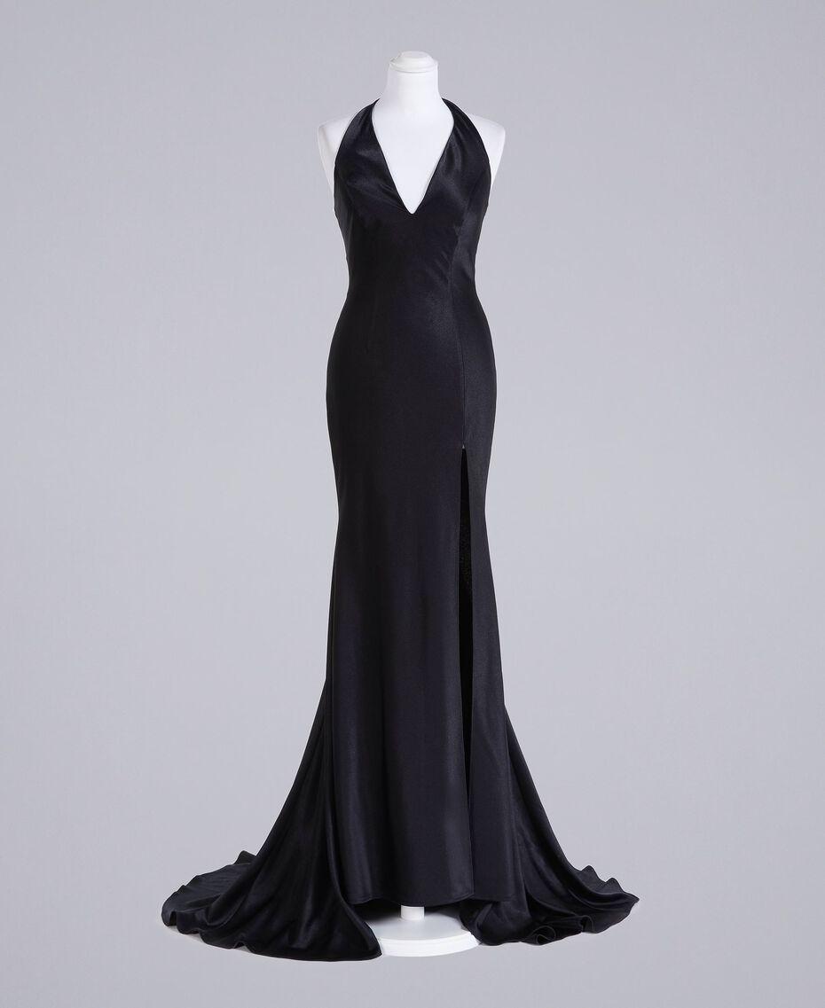 Langes Kleid Schwarz Frau QS8TGE-0S
