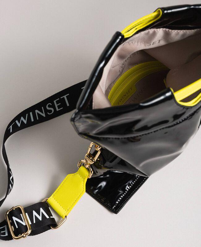 Маленькая складная сумка-шоппер из искусственной кожи Пыльный Розовый женщина 192TA7174-05