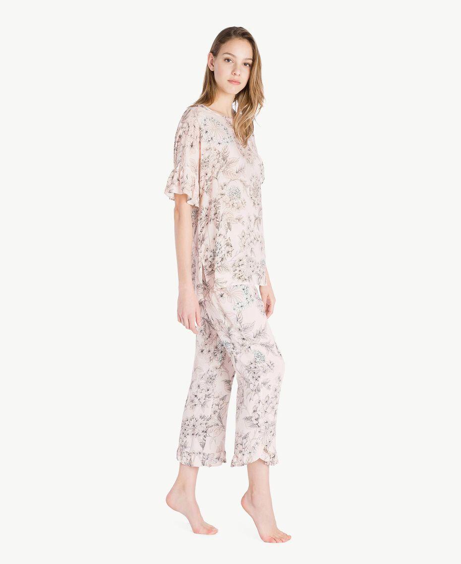 Printed pyjamas Pinkie Sugar Macrofloral Print Woman LS8DHH-03