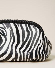 Soft clutch bag with animal print Zebra Print Woman 212TB7231-04