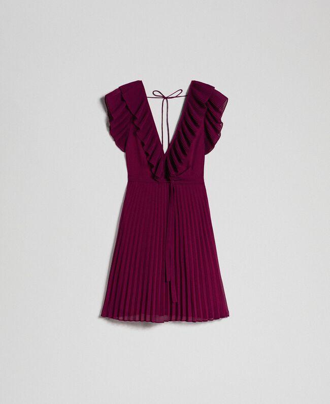 Robe en crêpe georgette plissé Rouge Velours Femme 192TT2071-0S