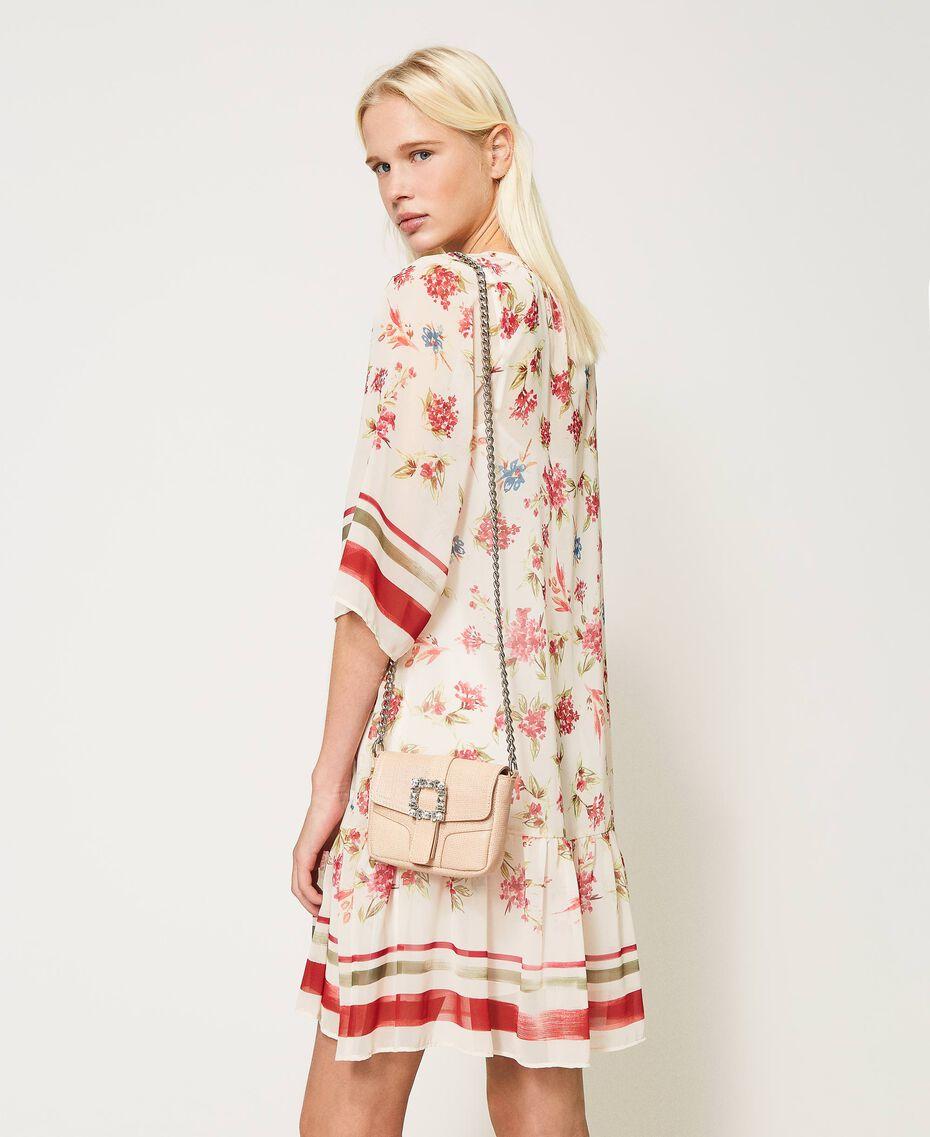 "Small Rebel shoulder bag with jewel buckle ""Nude"" Beige Woman 202TB7140-0S"