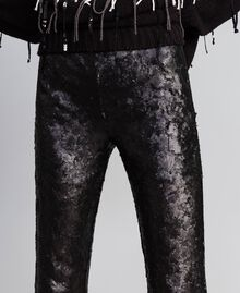 Sequined trousers Black Woman QA8TEF-05