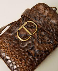 Animal print leather shoulder bag Leather Whips Print Woman 212TB7292-04