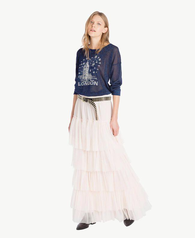 Lurex knit top Royal Blue Lurex Woman PS83Y1-04