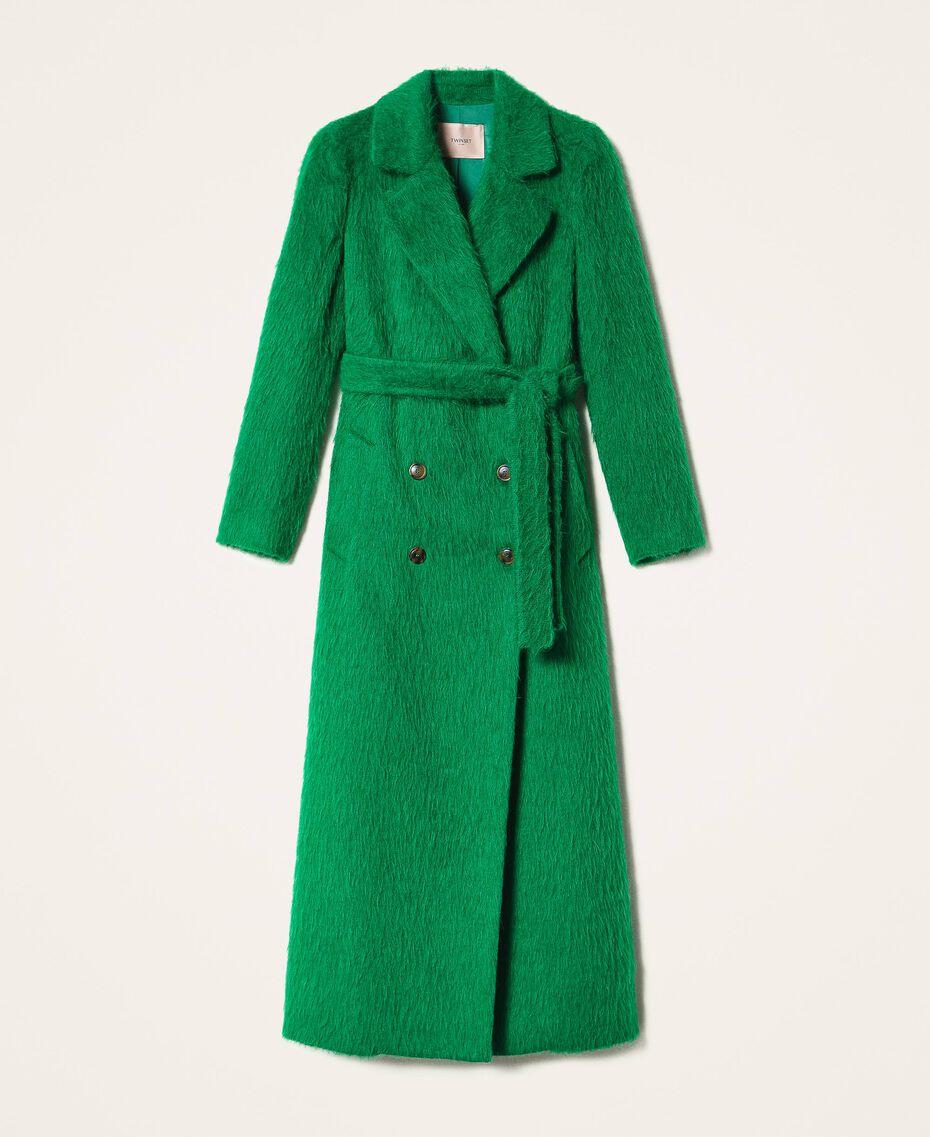 Manteau long en drap brossé Python Femme 202TP2601-0S