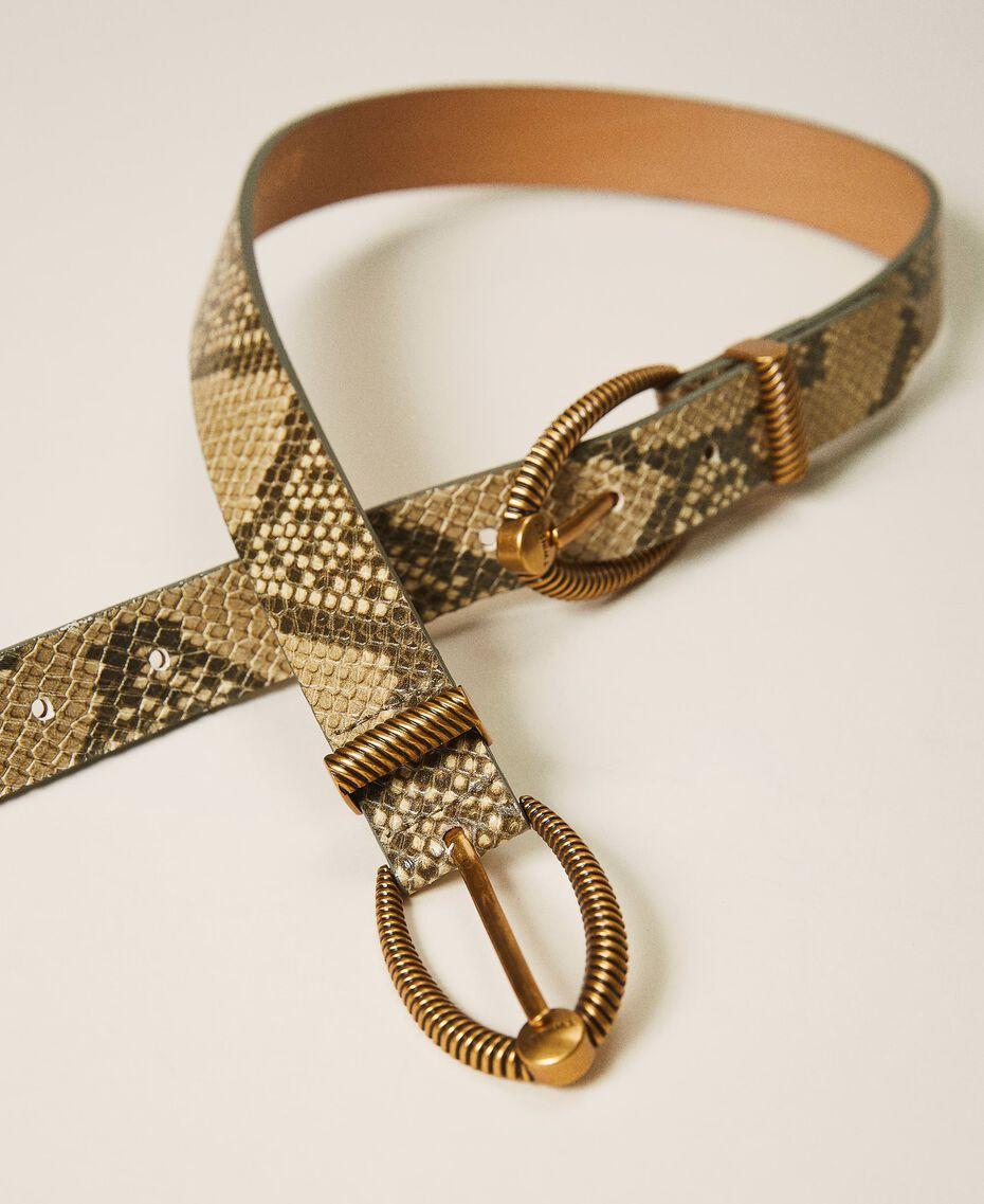 Animal print leather belt Pastel Skin Python Print Woman 202TO501A-02