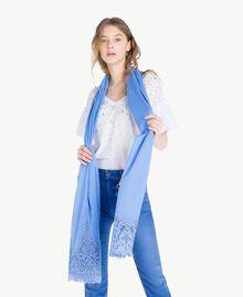 Écharpe guipure Bleu «Gentiane» Femme OS8T27-02