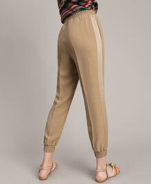 "Linen jogging trousers ""Cold Desert"" Brown Woman 191TT230B-04"