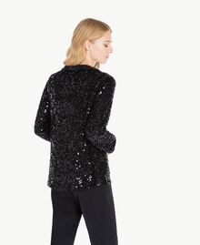 All over sequin jacket Black TA72KB-03
