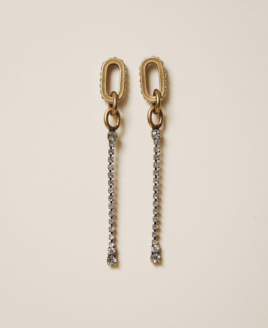 Boucles d'oreilles pendantes avec anneaux et strass Cristal Femme 202TO5052-02