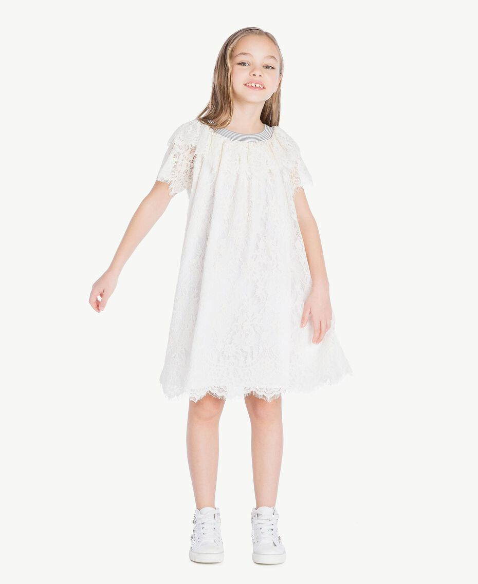 Lace dress Pale Cream Child GS82UQ-02
