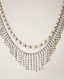 Collier ras-de-cou avec perles et strass Cristal Femme 202TA4313-02