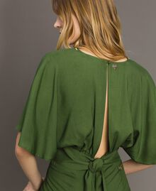 Top cropped in viscose Verde Amazzonia Donna 191LM2RFF-04
