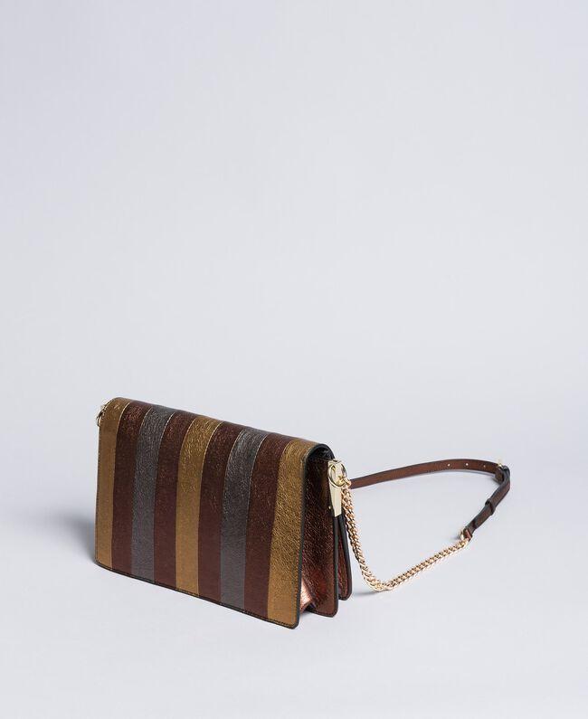 Umhängetasche aus mehrfarbigem Metallic-Leder Mehrfarbig-Metallic Frau OA8TDA-04