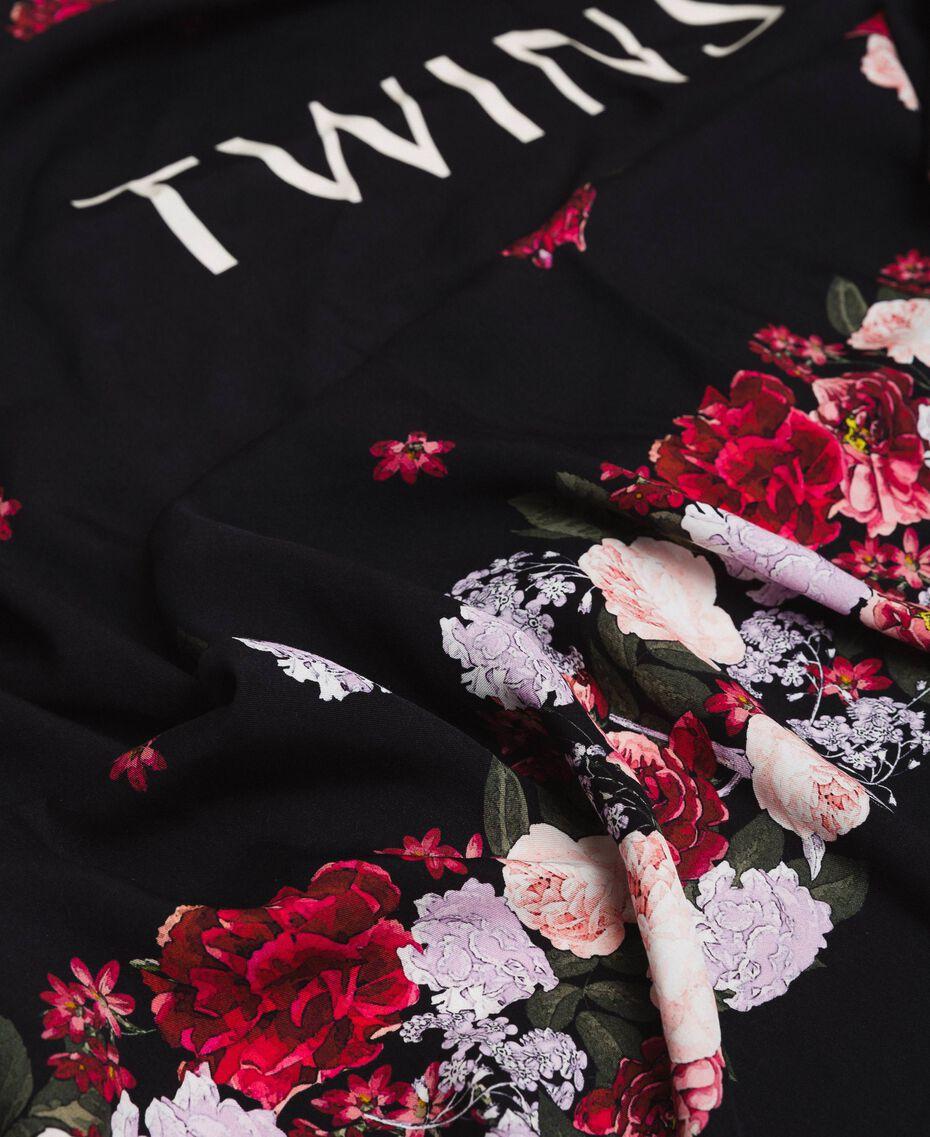Keffieh avec imprimé floral Imprimé Fleurs Multicolore Noir Femme 201TA4367-02