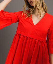 Robe en popeline Rouge Grenadine Femme 191TT2235-04