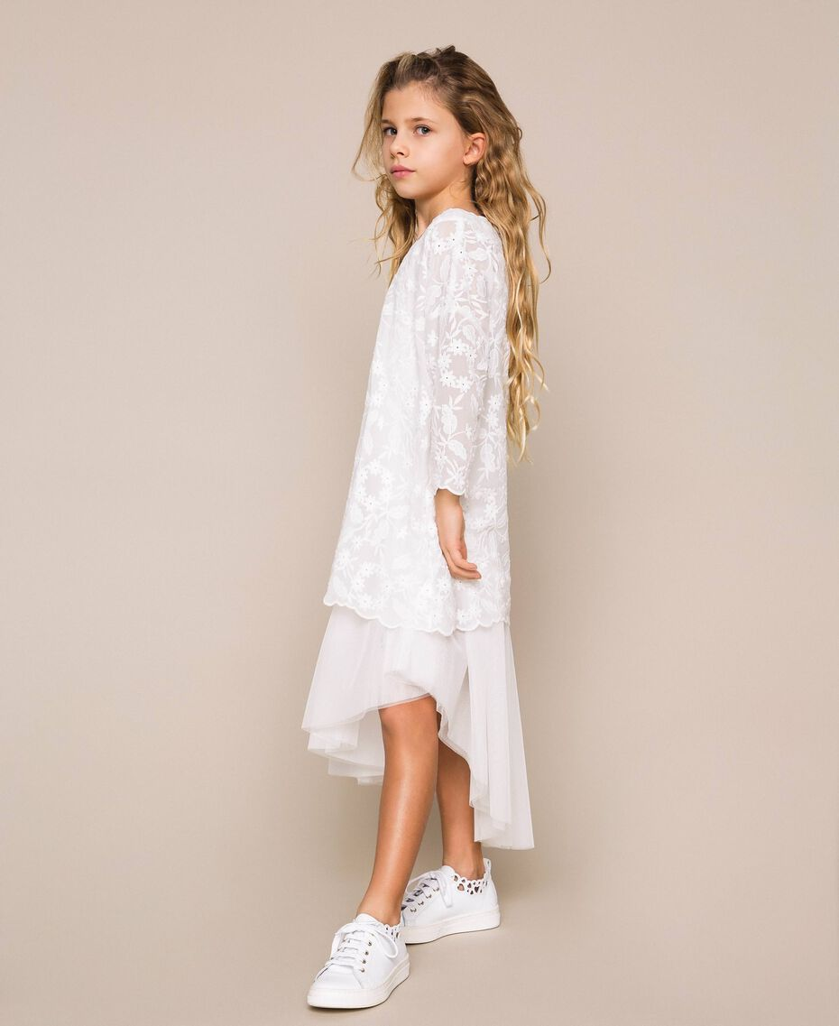 Tulle skirt and tunic dress Off White Child 201GJ2QC0-01