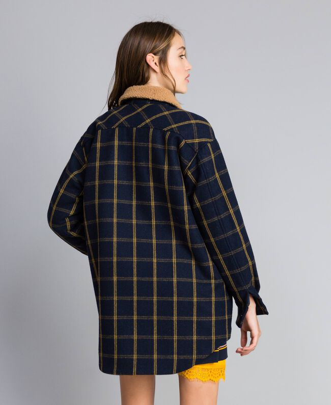 Tartan jacket Bicolor Blue Night / Gold Fancy Tartan Woman YA82EP-03