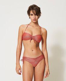 Tanga de baño de lúrex Rojo «Coral Lúrex» Mujer 211LMML77-01
