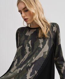 Abito in maglia stampata con inserti Stampa Camouflage Donna 192TT3341-01