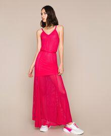 Robe longue en maille point filet Rose Sauvage Femme 201MT3010-01